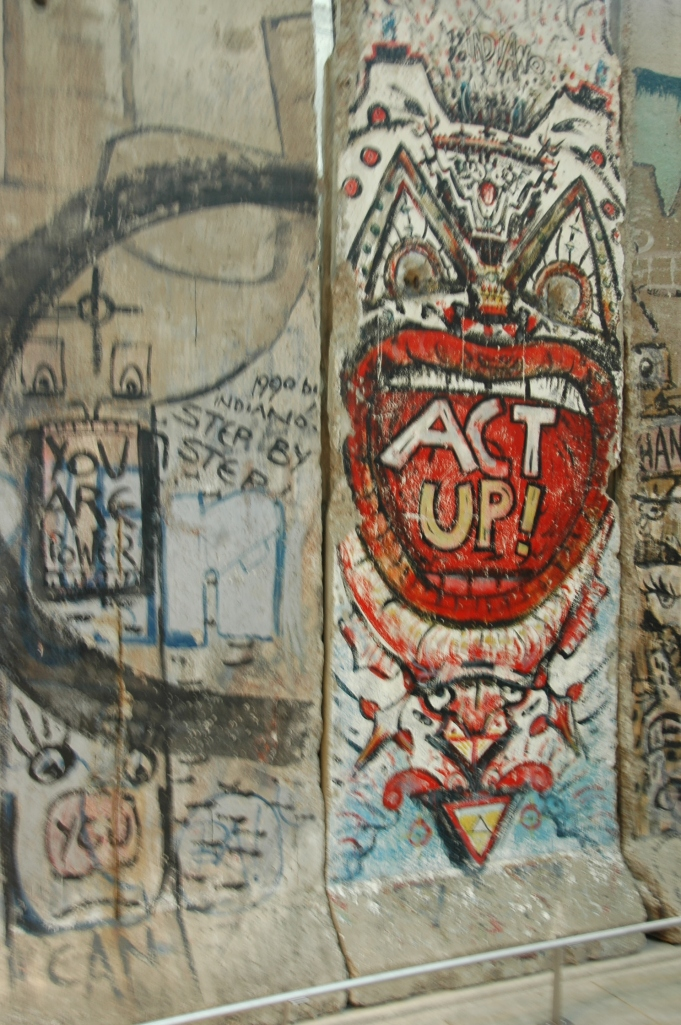 Section of the Berlin Wall on display at the Newseum in Washington DC